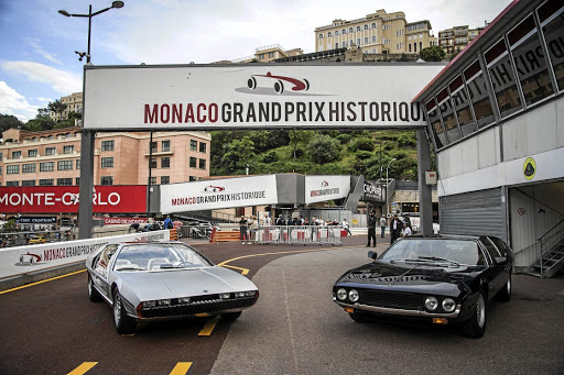 The Lamborghini Marzal concept (left) of 1967 was the forerunner of the Espada (right). Picture: LAMBORGHINI