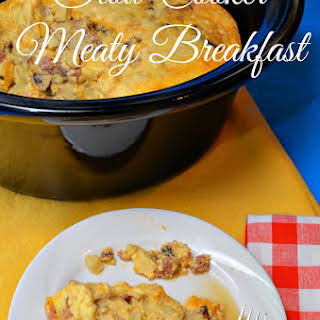 CROCK POT MEATY BREAKFAST.