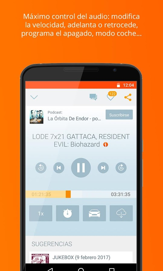 iVoox Podcast y Radio: captura de pantalla