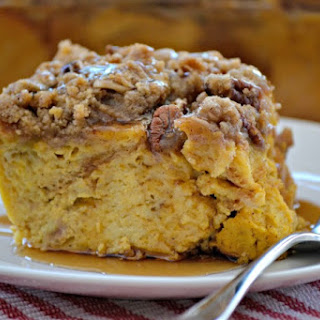 Pumpkin Spice Baked French Toast