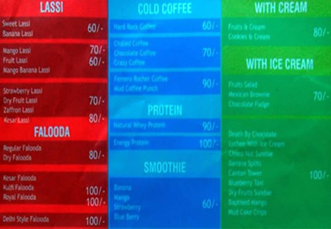 Think Juice menu 2