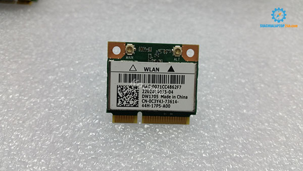 Thay card wifi laptop Dell