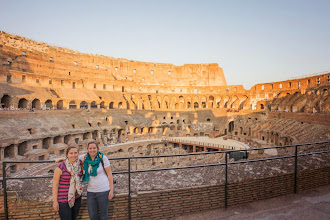 Photo: Kait and Alison inside the Colosseum, Rome