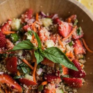 Strawberry Quinoa Salad with Fresh Basil Recipe