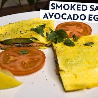 Smoked Salmon Avocado Egg Wrap