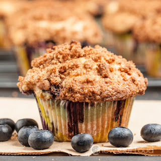 Big Blueberry Muffins, Bakery Style
