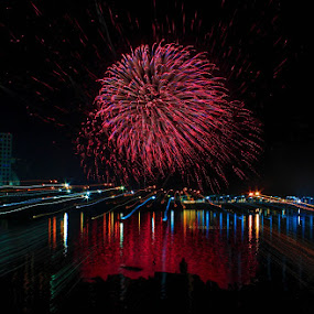 Pyromusical by Krizzel Almazora - Abstract Fire & Fireworks ( abstract, pyromusical, fireworks, philippines, photography )