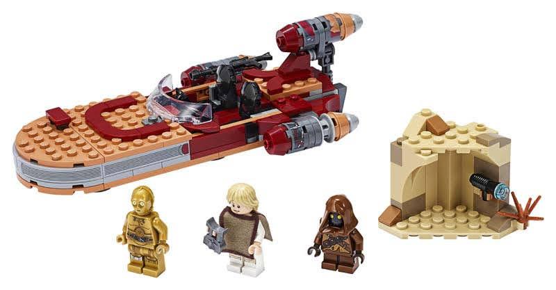 Contenido de Lego® 75271 Speeder Terrestre de Luke Skywalker
