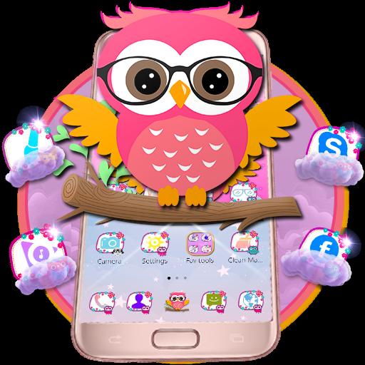 Cute Glass Owl Theme
