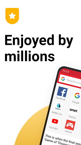 Opera Mini browser beta Screenshot