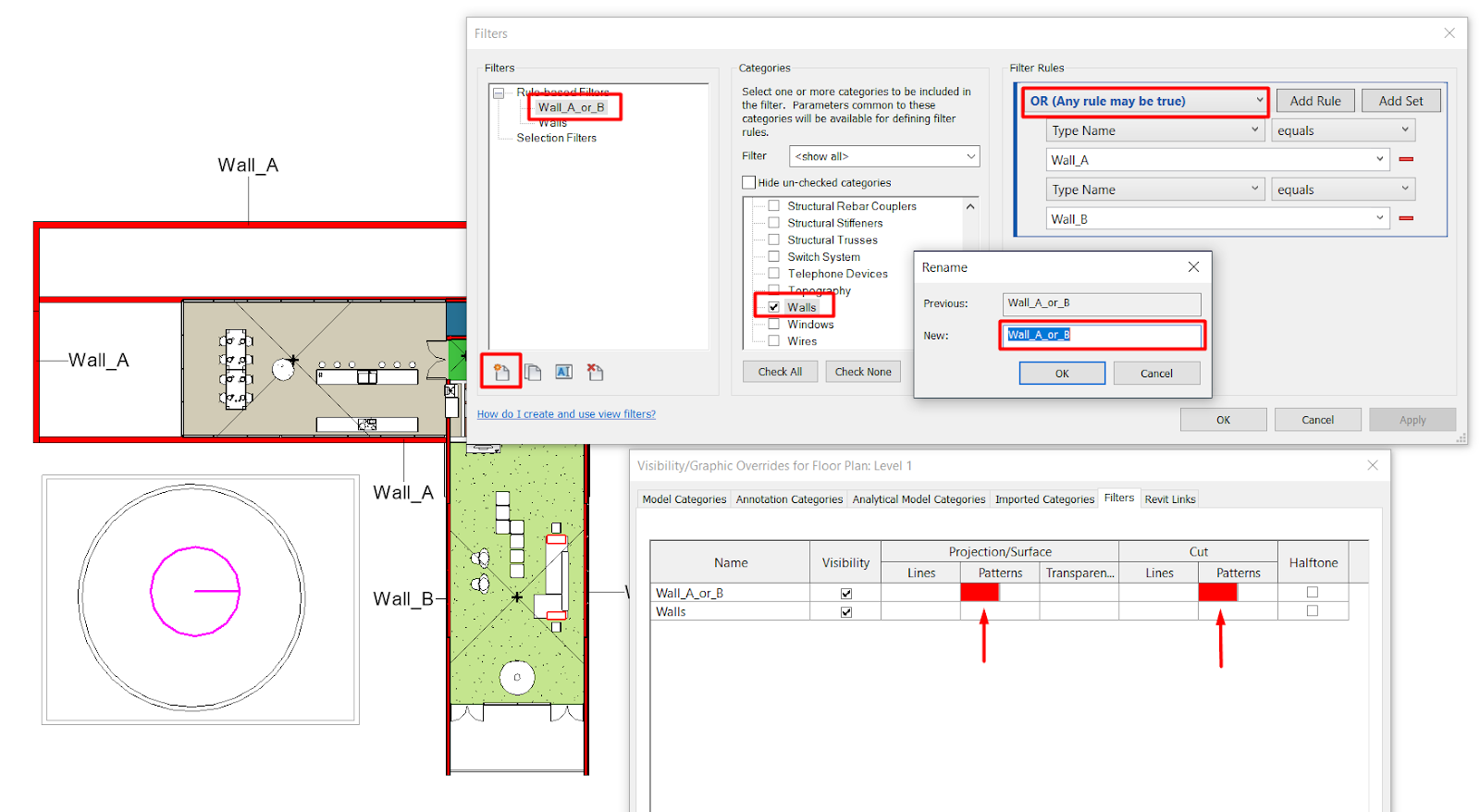 Visibility and Graphics Management - Operation in Revit