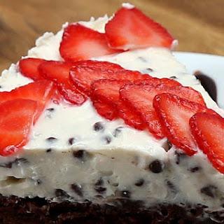 2. Easy Chocolate Chip Brownie Cheesecake