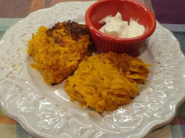 Sweet Potato Latkes (Sweet Potato Pancakes)