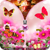 Pink Butterfly Zip Unlock