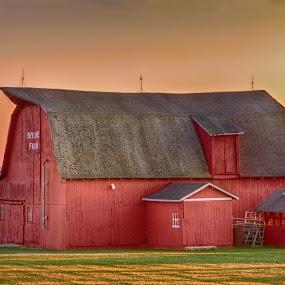 by John LeBlanc - Digital Art Places ( barns & farms,  )