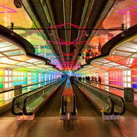 Passageway by Ken Smith - Buildings & Architecture Other Interior ( patterns, abstract, o'hare airport )