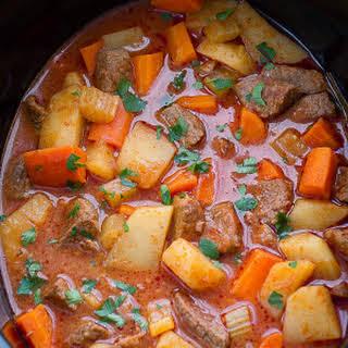 Slow Cooker Homemade Beef Stew.