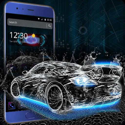 Neon Black Luxury Car