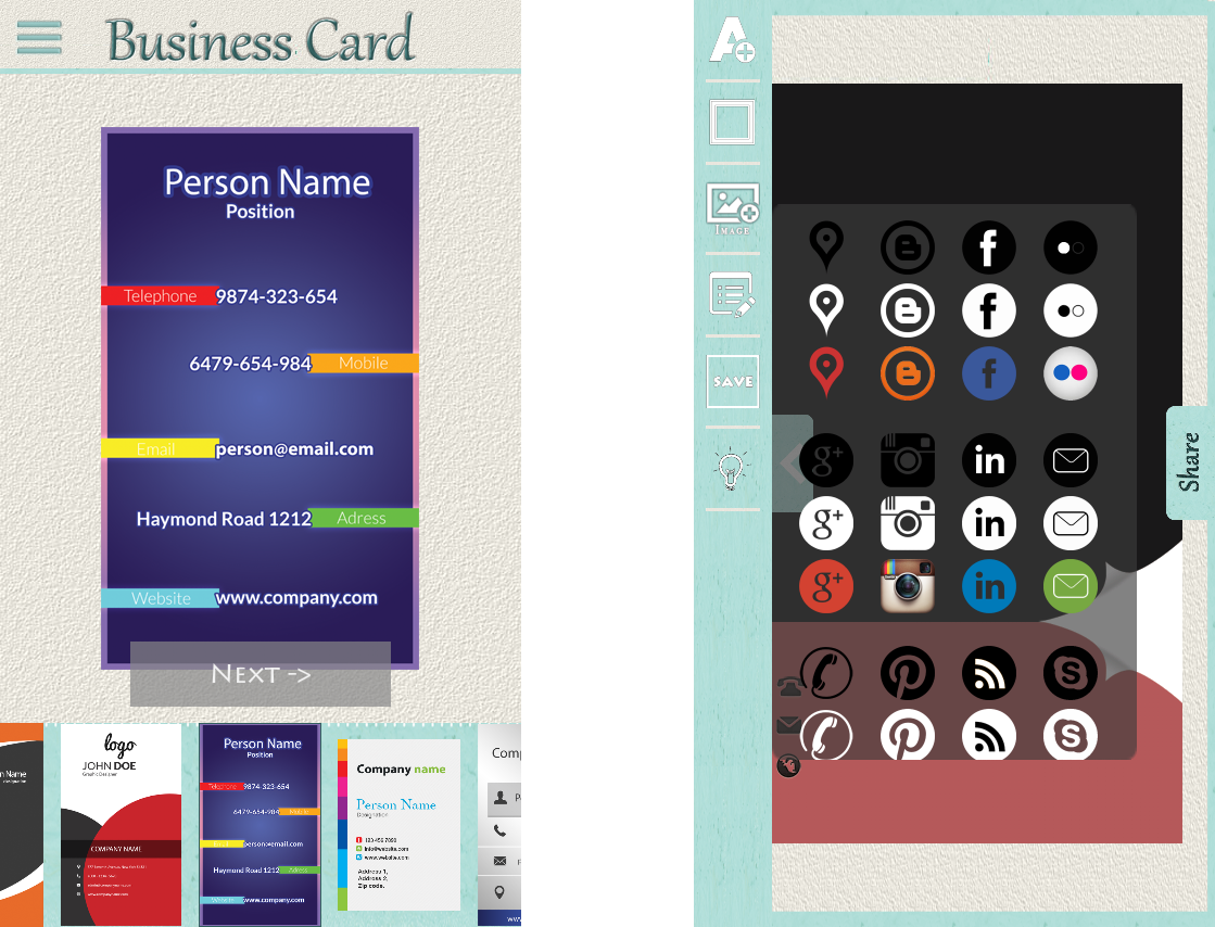 Google Electronic Business Cards Choice Image - Card Design And Card ...