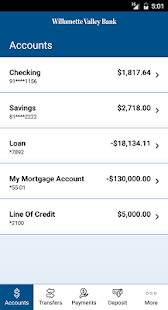 Willamette Valley Bank Mobile- screenshot thumbnail