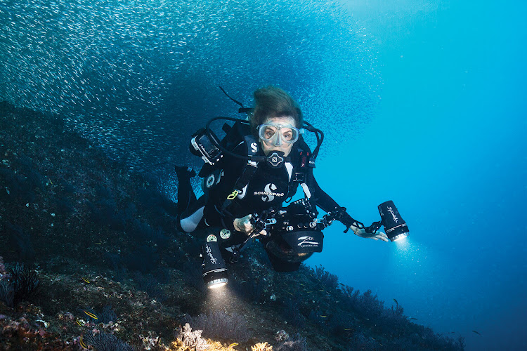 US marine biologist and Rolex ambassador Sylvia Earle.