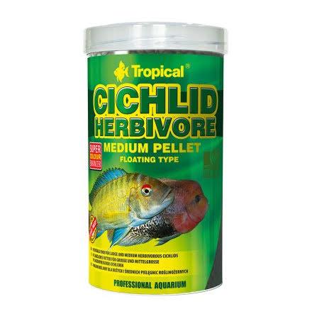 Tropical Cichlid Herbivore Medium Pellet 500ml/180g