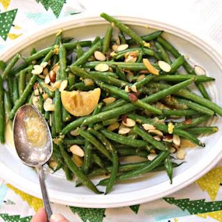 Lemon Ginger Green Beans with Almonds.