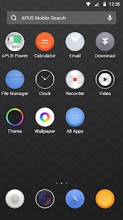 Black simple business -APUS Launcher free theme Screenshot