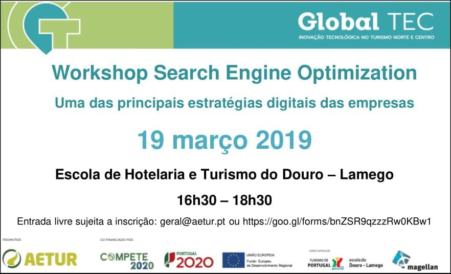 Workshop Search Engine Optimization - Escola de Hotelaria e Turismo do Douro - Lamego - 19 de março