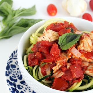 Basil Pomodoro Zucchini Pasta with Chicken