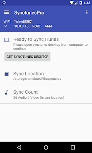 SynctunesF: iTunes to android- screenshot thumbnail