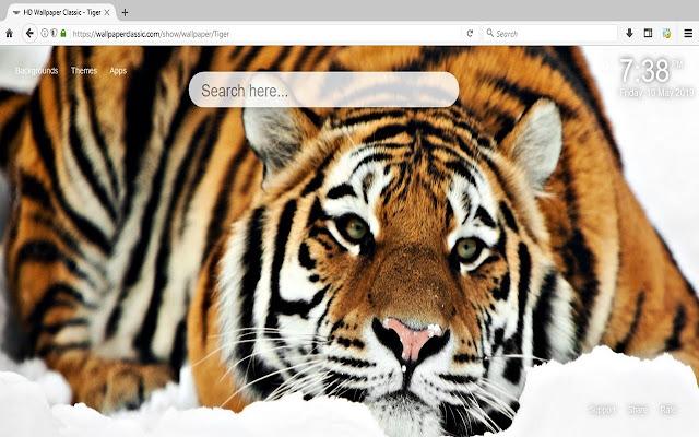 Tiger Wallpaper HD New Tab Themes