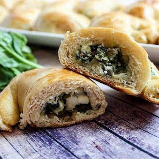 Spinach Feta Crescent Snacks.