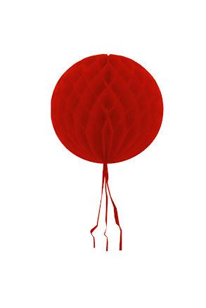 Dekorationsboll, röd