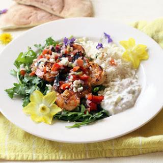 Grilled Greek Shrimp Plate Recipe