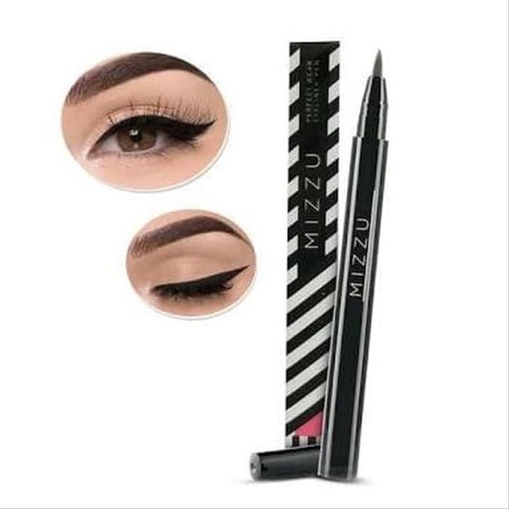 Eye Liner Black Brown hitam coklat eyeliner MIZZU tahan air lama awet waterproof mudah digunakan