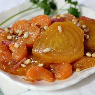 Salad of Tangerine and Golden Beet.