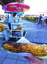 Photo: Ohrid city square.  Grilled corn on the cob!