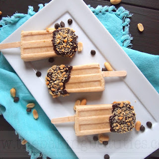 Chocolate Dipped Peanut Butter Popsicles