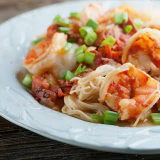 Shrimp Pasta Fra Diavolo.