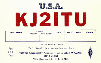 "Photo: Special callsign for the World Telecommunications Day event. Lots of hams got these special callsigns for the asking - all ending in ""ITU"". I think a contest involving them also ran that year."