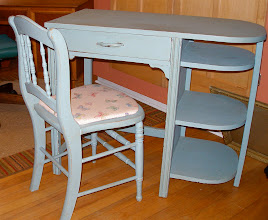 Photo: PETITE PAINTED DESK & CHAIR: search Raleigh CraigsList, number 2890035551
