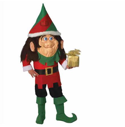 Maskotdräkt, tomte elf one size