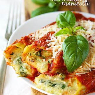 Cheesy Meatless Manicotti.