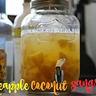 Pineapple Coconut Sangria.