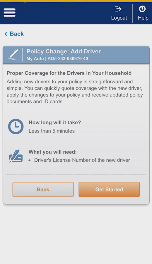 Liberty Mutual Mobile- screenshot