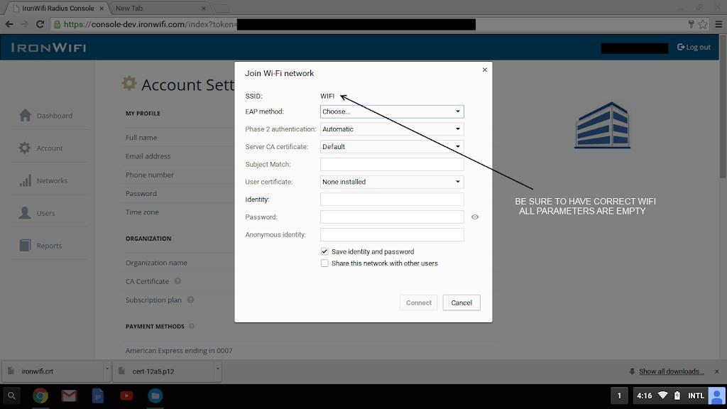 Chromebook OS – TLS – Cloud RADIUS and Captive Portal