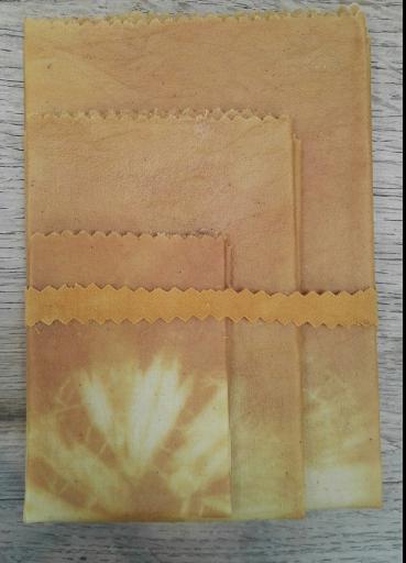 Tissu à la cire d'abeille couleur jaune