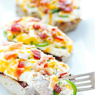 Jalapeno Popper Smothered Pork Chops - Low Carb.
