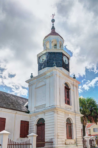 St-Croix-Christiansted-building.jpg - A clock tower in Christiansted on the northern shore of St. Croix, one of the U.S. Virgin Islands.